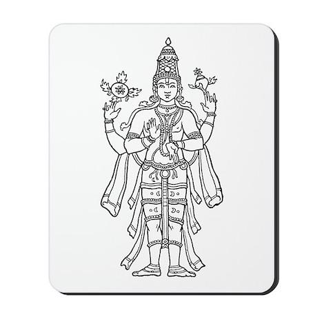 Vishnu - Hindu Diety Mousepad