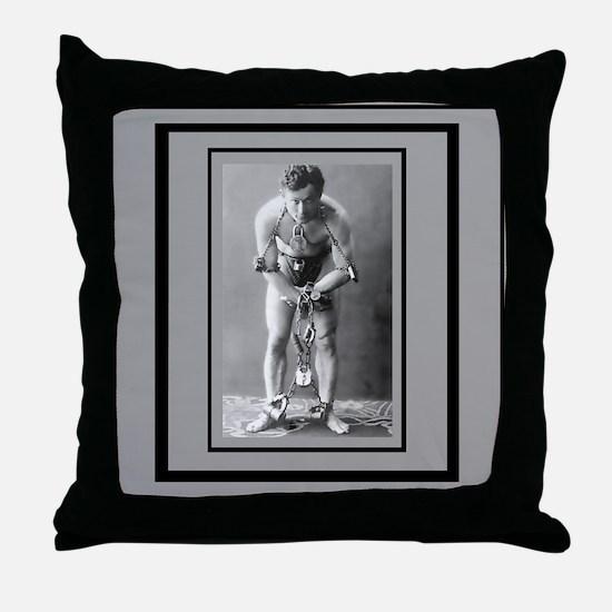 Harry Houdini Throw Pillow