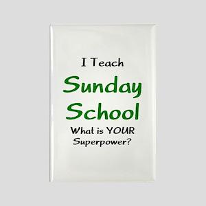 teach sunday school Rectangle Magnet