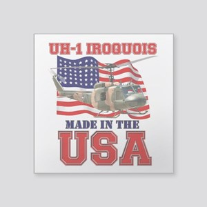 "UH-1 Iroquois Square Sticker 3"" x 3"""
