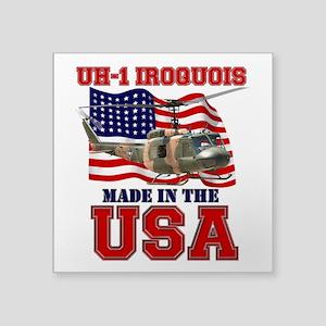 "UH-1 Iroquois Square Sticker 3"" x 3"""