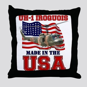 UH-1 Iroquois Throw Pillow