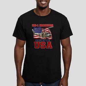 UH-1 Iroquois Men's Fitted T-Shirt (dark)