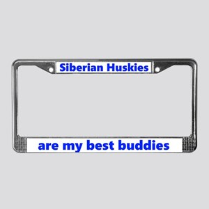 Siberian Huskies R Bff License Plate Frame