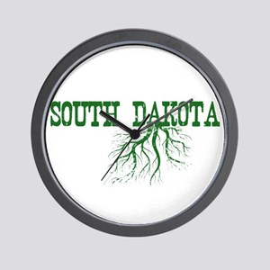 South Dakota Roots Wall Clock