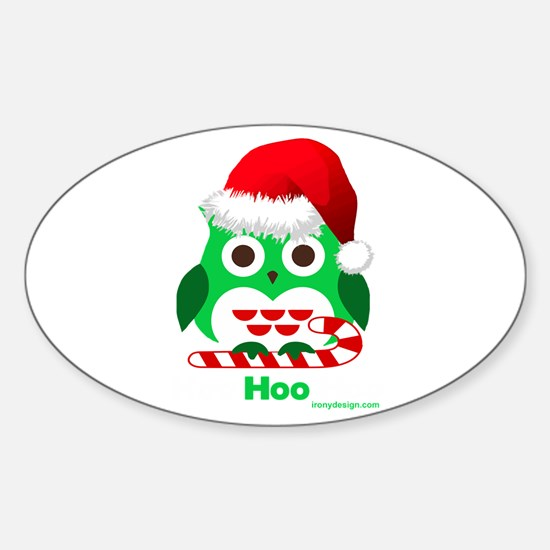 Christmas Owl Hoo Hoo Hoo Decal