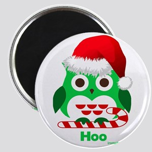 Christmas Owl Hoo Hoo Hoo Magnets