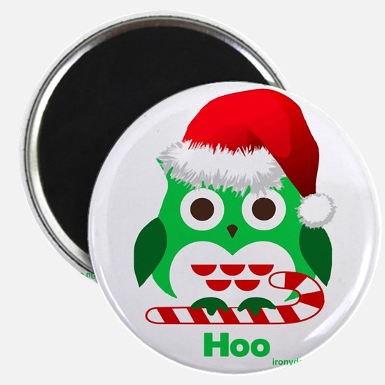 Christmas Owl Hoo Hoo Hoo Magnets
