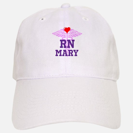 RN Pink Caduceus with purple letters Baseball Baseball Baseball Cap
