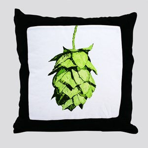 Graphical Hop Cone Throw Pillow