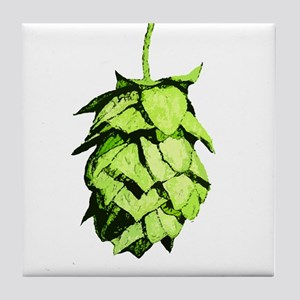 Graphical Hop Cone Tile Coaster