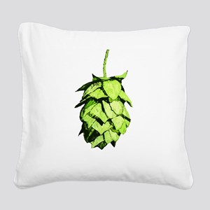 Graphical Hop Cone Square Canvas Pillow
