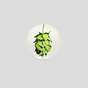 Graphical Hop Cone Mini Button