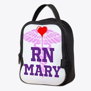 RN Pink Caduceus with purple letters Neoprene Lunc