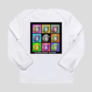 with Sheep Art Long Sleeve T-Shirt