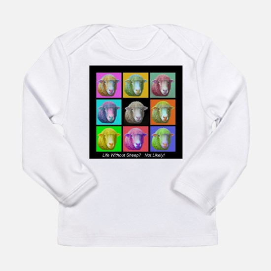 with Sheep Art Long Sleeve T-Shirt