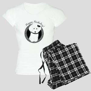White Poodle Party Dog with Cupcake Pajamas