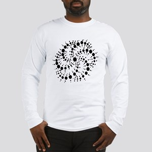 Harmonic Spiral Crop Circle Long Sleeve T-Shirt
