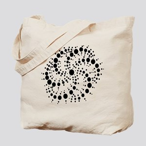 Harmonic Spiral Crop Circle Tote Bag