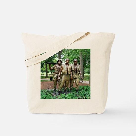 Three Vietnam Servicemen Statue - Washing Tote Bag