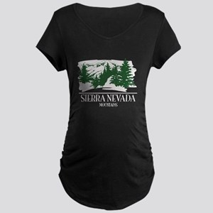 Sierra Nevada Mountain Range Maternity T-Shirt