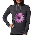 Purple Daisy Womens Hooded Shirt
