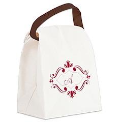 Inital Frame Canvas Lunch Bag