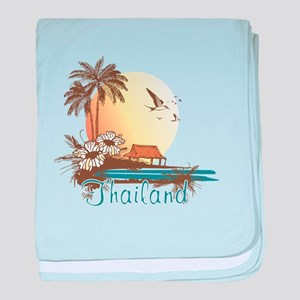 Thailand Tropical baby blanket