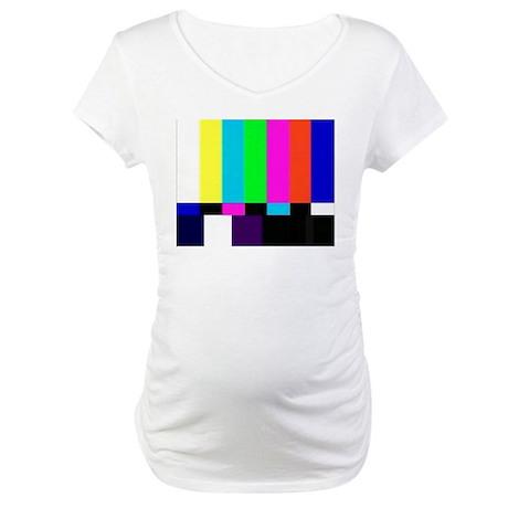 TV Bars Maternity T-Shirt