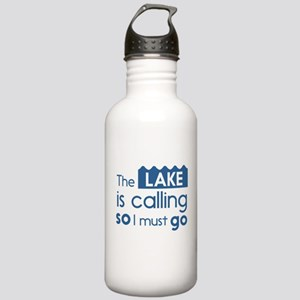 The lake is calling so I must go Water Bottle