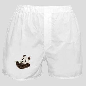 Watercolor Panda Asian Bear Boxer Shorts