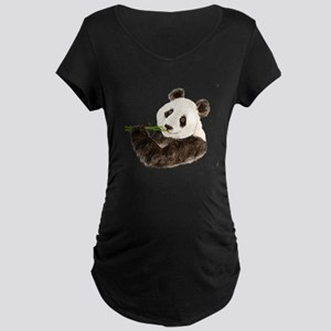 Watercolor Panda Asian Bear Maternity T-Shirt