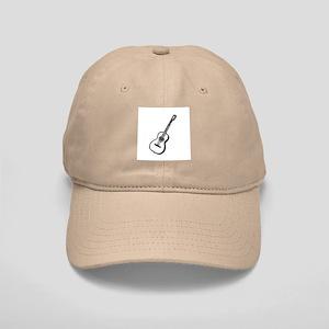 Black Woodcut Guitar Cap
