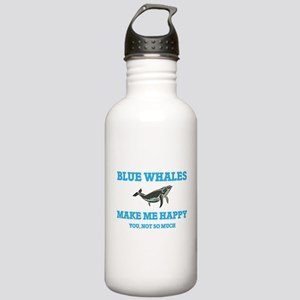 Blue Whales Make Me Ha Stainless Water Bottle 1.0L