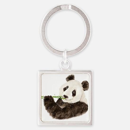 Watercolor Panda Asian Bear Keychains