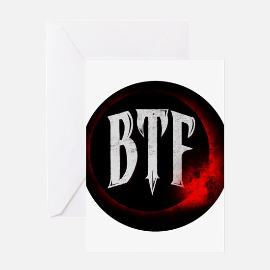 Beneath the Fallen Logo Greeting Cards