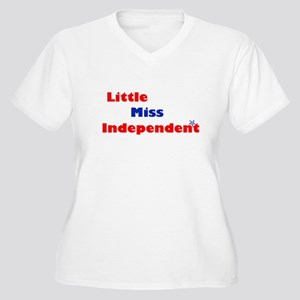 Little Miss Independent Women's Plus Size V-Neck T