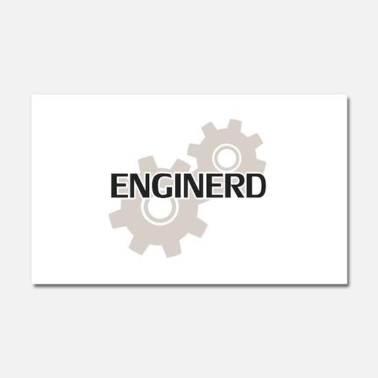 Enginerd Engineer Nerd Car Magnet 20 x 12