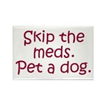 Pet a Dog Rectangle Magnet (10 pack)