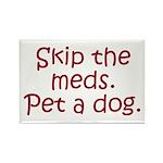 Pet a Dog Rectangle Magnet (10 pack)