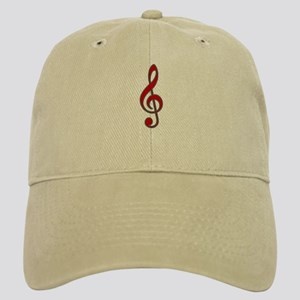 Retro Red Treble Clef Cap