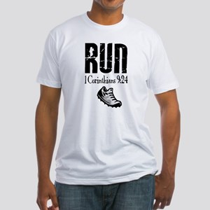 Run the Race verse Fitted T-Shirt