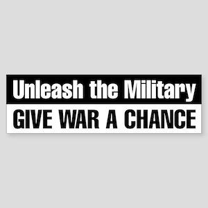 Give War a Chance Bumper Sticker (Black)