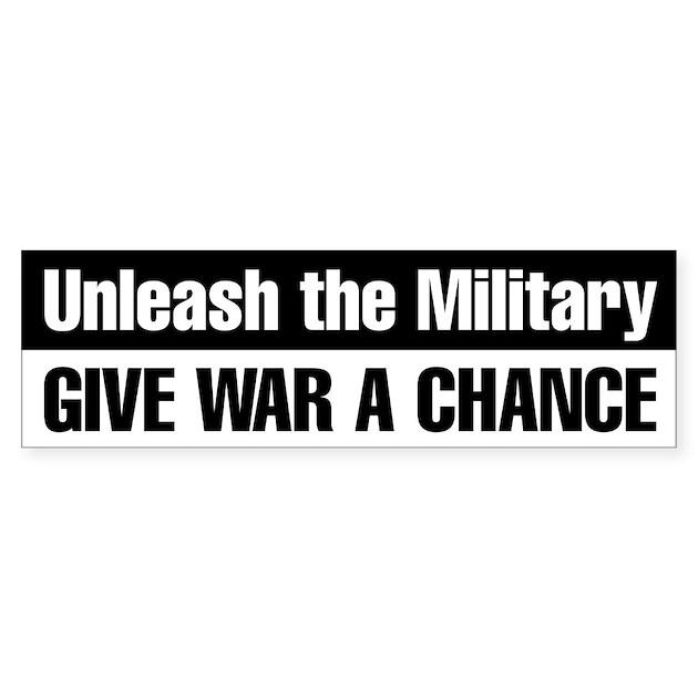 Give war a chance bumper sticker black by digitalgarden