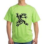 Black Panther Tattoo Green T-Shirt