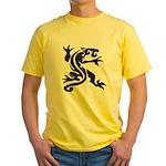 Black Panther Tattoo Yellow T-Shirt