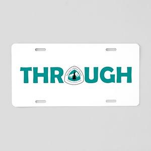 Pacific Crest Trail Through Aluminum License Plate