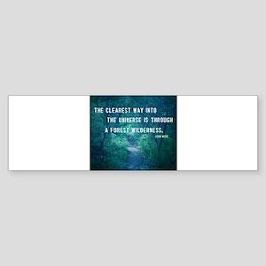 Wilderness quote Bumper Sticker