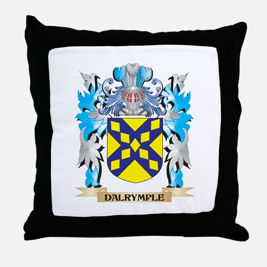 Cute Dalrymple coat of arms Throw Pillow