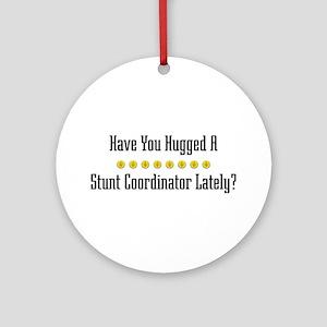 Hugged Stunt Coordinator Ornament (Round)
